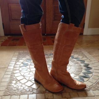 Tall Tan FRYE Boots Womens Size 9 Perfect No Flaws Gorgeous EUC