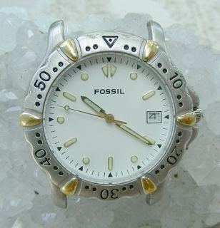 Fossil Am 2985 Ladies 2 Color Stainless Fossil Quartz Watch 51482