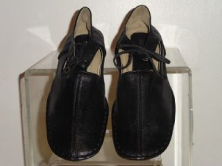 Henry Ferrera Collection New Women Black Leather Mary Jane Shoe Shoes