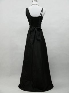 Black Long Prom Ball Wedding Evening Gown Bridesmaid Dress
