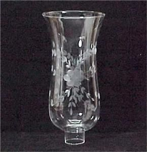 Clear Cut Etched Glass Hurricane Lamp Shade 1 5 8 x 10 Candle Light