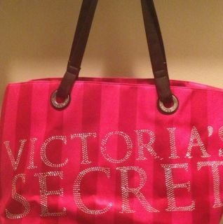 Gorgeous Victorias Secret Holiday Bag Tote Red Pink Sparkle♥♥xmas
