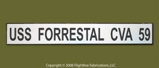 USS Forrestal CVA 59 US Navy Aircraft Carrier Wood Sign
