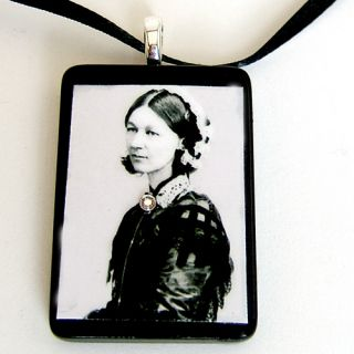 Nurse Florence Nightingale handmade tile Photo Pendant Necklace