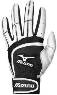 Mizuno Franchise Adult Batting Gloves Black/White Small Pair
