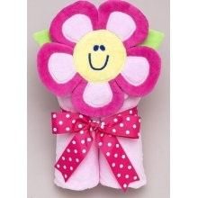 New Mullins Square Tubbie Pink Flower Hooded Bath Towel