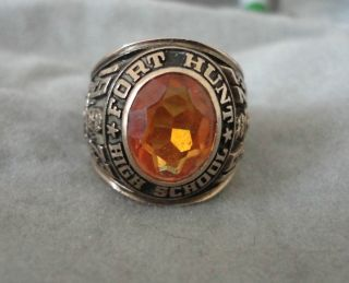 Fort Hunt High School Class Ring 1973 10K Gold 7 5 8 grams Wear or