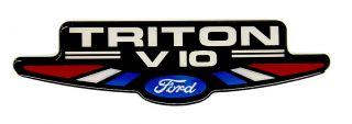 Ford Triton V10 High Performance Emblem Satin