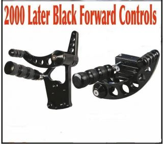 Black Forward Control Kit Harley Softail FXST FXSTC FXSTD Deuce FXSTS