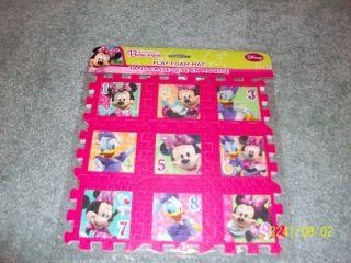 NEW Girls MINNIE MOUSE BOW TIQUE Foam Play Mats Super Cute L K