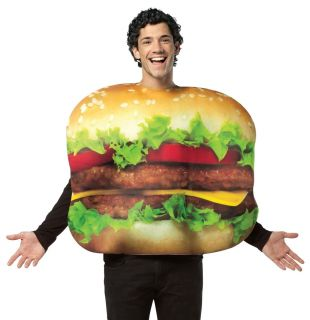 Funny Cheeseburger Adult Fast Food Burger Halloween Costume
