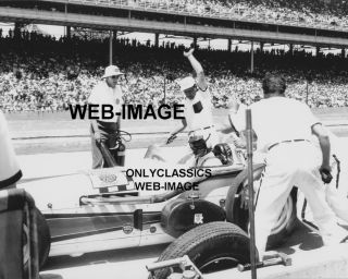 1961 Indy 500 Pit Action A J Foyt Photo Bowes Seal Fast