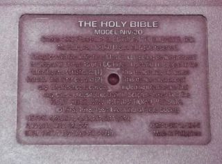 Franklin NIV 30 Holy Bible New International Version