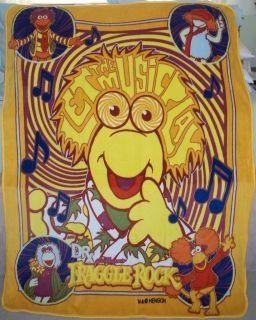 Fraggle Rock Jim Henson Muppet Plush Throw Blanket RARE