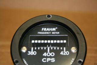 Vintage Frahm Frequency Panel Meter 380 420 CPS 100 150 Volts Made In
