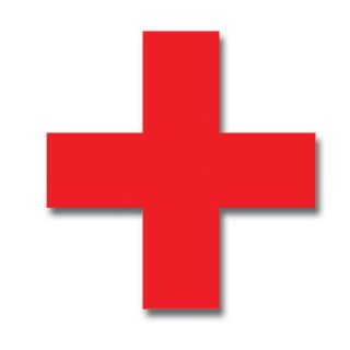 Color Cross Sticker Vinyl Decal Icon First Aid
