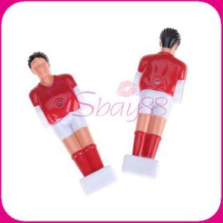 11pcs Red Foosball Man Table Football Fussball Guys Mans Soccer Player