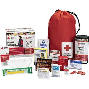 First Aid Only Inc. Red Cross Personal Emergency Preparedness Kit W