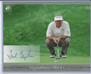 PGA Upper Deck Golf SP Signature Authentic 8x10 Auto Card Fred Couples