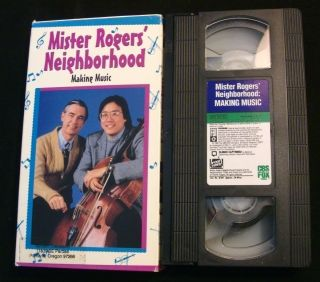 Mister Rogers Neighborhood VHS MAKING MUSIC Yo Yo Ma 1994 Joe Negri