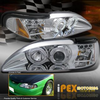 2IN1* 94 98 Ford Mustang Cobra/GT HALO LED Projector Headlights w