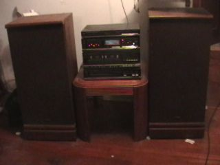 fisher home stereo system vintage with 40 inch tall speakers