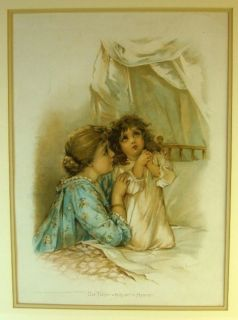 1900s Francis Brundage Signed Litho Our Father Which Art in Heaven