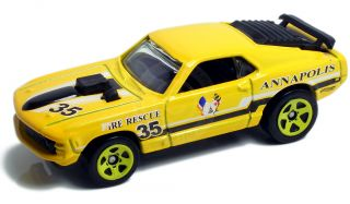 1970 Ford Mustang Mach 1 Annapolis Fire Rescue 1 64 Scale Hot Wheels
