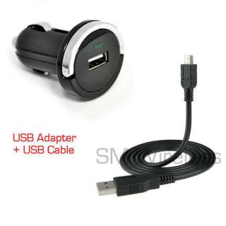 For Casio GzOne Commando C771 USB Car Charger w Data Cable