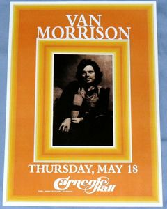 Van Morrison Concert Poster   Carnegie Hall 1972  Saint Dominics