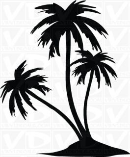 Palm Trees Vinyl Decal Sticker Hawaiian