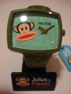 Paul Frank Julius Friends Julius Watch Face Green Strap Wristwatch