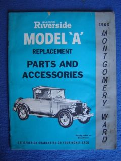 1966 MONTGOMERY WARD MODEL A FORD PARTS & ACCESSORIES CATALOG