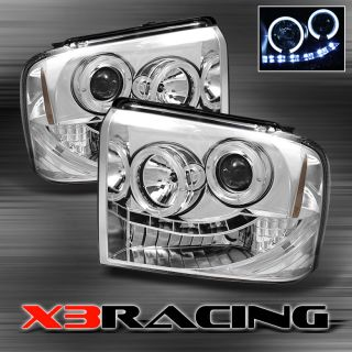 05 07 FORD F250 F350 F450 F550 EXCURSION HALO PROJECTOR LED HEADLIGHTS
