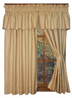 French Country Solid Drape Curtain Panels Dayita Waverly Fabric