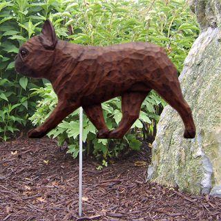 French Bulldog Dog Figure Garden Stake Home Yard Garden Products Dog
