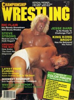 Ric Flair Championship Wrestling Magazine May 1985 Jerry The King