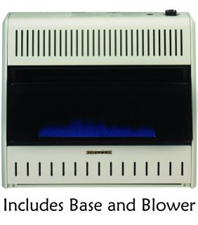 Dual Fuel Vent Free Blue Flame Heater with Blower Base NG LP