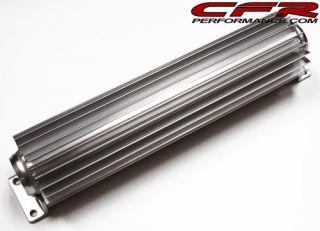 12 Aluminum Transmission Cooler Dual Line Trans Finned