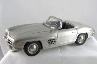 Franklin Mint Pewter Mercedes Benz 300 SL 1 12 Scale Original Box