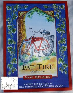 Brewing Beer Poster Sign   Fat Tire Amber Ale Fort Collins Colorado