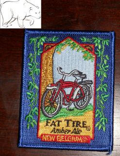 Brewing Embroidered Patch Fat Tire Ale Bicycle Fort Collins Colorado