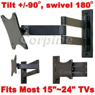 Articulating LCD LED Flat Panel TV Monitor Tilt Wall Mount 17 19 20 23