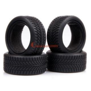 Road Racing Car 26mm Rubber High Grip Flat Run Tires Tyre 6085