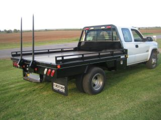 Deluxe Flatbed w Bale Hauler for Dual Wheel TRUCK96116