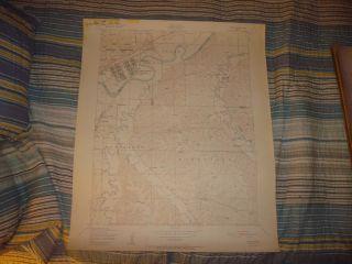 Fort Riley Camp Funston Ogden Kansas Antique Map
