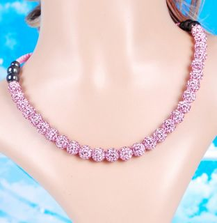 Ball Bead Braid Friendship Chain Necklace Party Proms