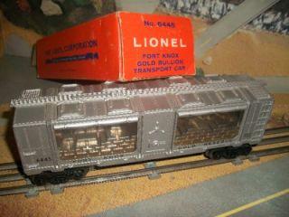 LIONEL #6445 FORT KNOX GOLD BULLION TRANSPORT CAR  1961 1963