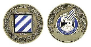 Army Fort Stewart 3rd Infantry Bronze Challenge Coin