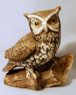 Photo Figurine Home Interiors Homco OWL Bird Vintage Retired